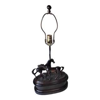 1980s Fredrick Cooper Equestrian Table Lamp For Sale