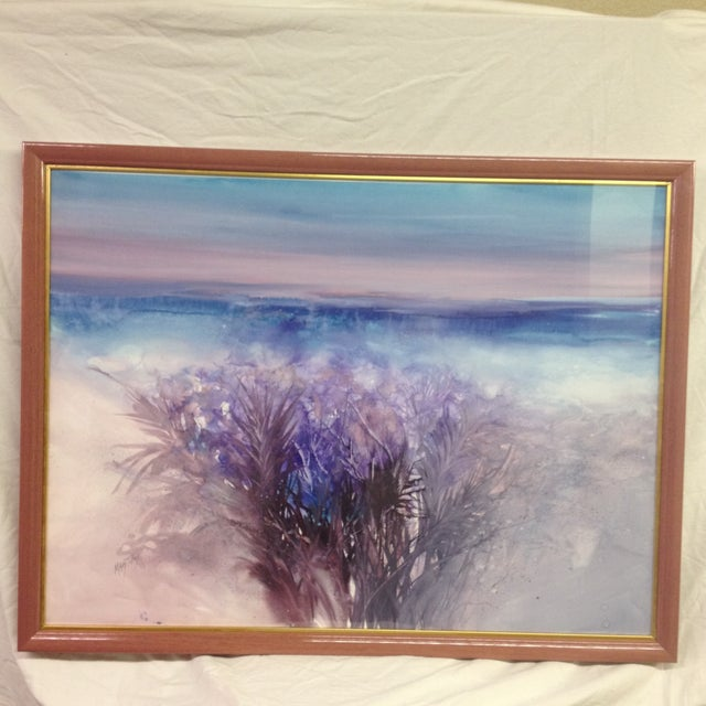 """Mary Titus """"Day Dream"""" Watercolor Painting - Image 2 of 8"""