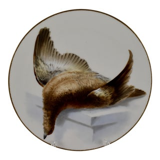19th C. Bodley Staffordshire Dead Game Plate, the Grouse For Sale