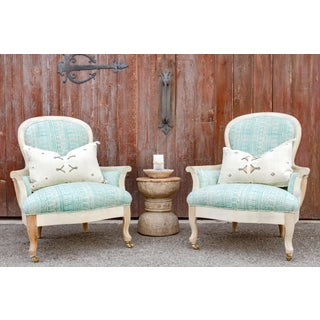 Blockprint Bergere Bleached Chairs - a Pair Preview