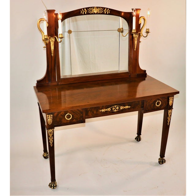 Circa 1900 French Empire Style Mahogany Dressing Table For Sale - Image 13 of 13