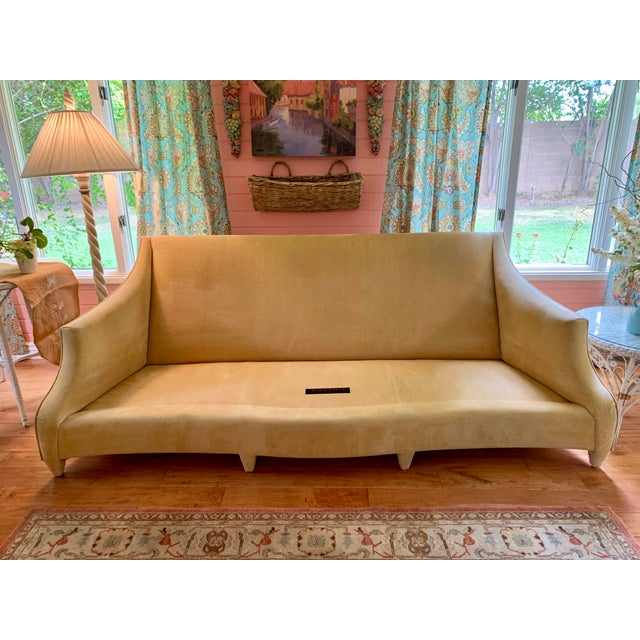 Yellow John Hutton for Donghia Ogee Sofa For Sale - Image 8 of 10