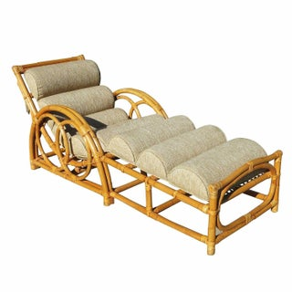 Half Moon Rattan Chaise Longue Chair For Sale