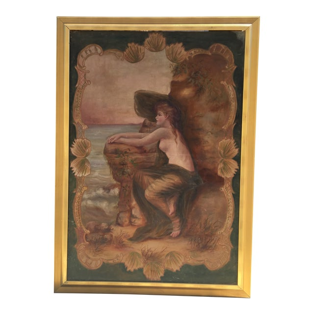 Antique Nude by the Sea Original Painting - Image 1 of 6