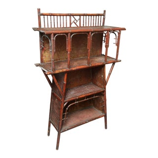 Aesthetic Era Anglo-Japanese Bamboo Bookcase For Sale