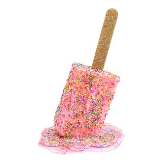 More Sprinkles Please, Resin Pink Popsicle Sculpture by Betsy Enzensberger