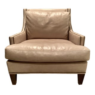 "Modern Lillian August for Hickory White ""Royce"" Leather Chair For Sale"