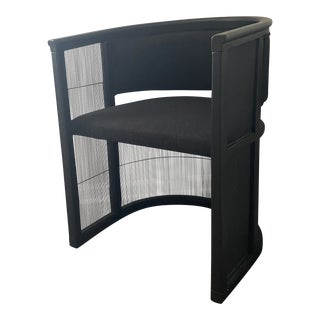 Modern Cb2 Black Accent Chair For Sale