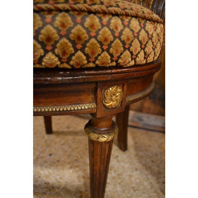 Pair of Antique French Louis XVI Occasional Chairs circa 1880 For Sale - Image 4 of 8