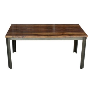 Modern Industrial Dining Table For Sale