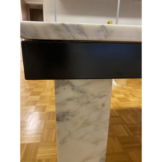 1970s Vintage Calacatta Marble Dining Table For Sale - Image 10 of 13