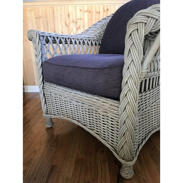 Palecek Designer Lounge Chair & Ottoman - a Pair For Sale - Image 6 of 8