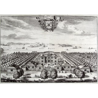 Antique 1699 Swedish Sandmare Estate Print For Sale