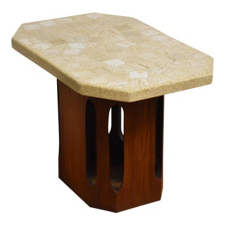 Harvey Probber Walnut Terazzo End Table For Sale