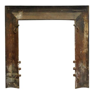 Modern Cast Iron Black Fireplace Insert For Sale