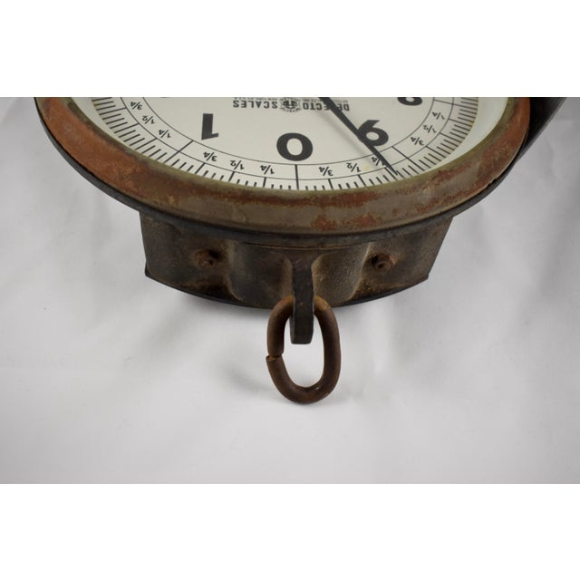 Vintage Detecto Hanging Mercantile Scale with Steel Scoop For Sale - Image 11 of 11