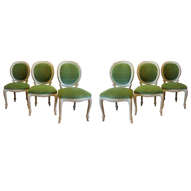 Mid-Century Rope Chairs - Set of 6 For Sale In New York - Image 6 of 6