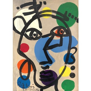 "Abstract ""Pablo Picasso"" Oil Painting by Peter Robert Keil For Sale"