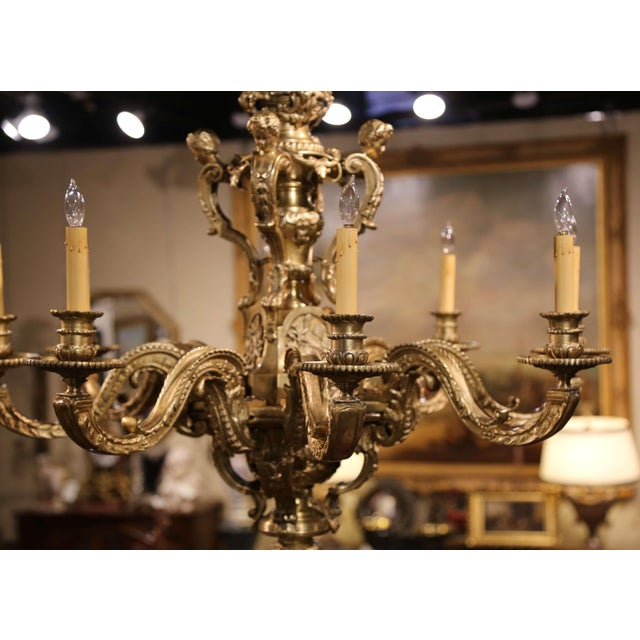 Crafted in France, circa 1880, the important chandelier features four cherubs on the upper part decorated with crossed...