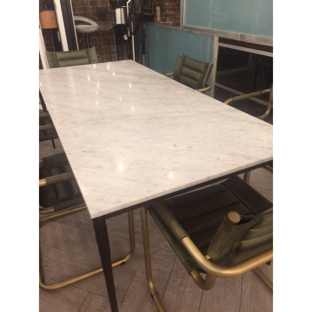 Marble Dining Table For Sale In San Francisco - Image 6 of 7