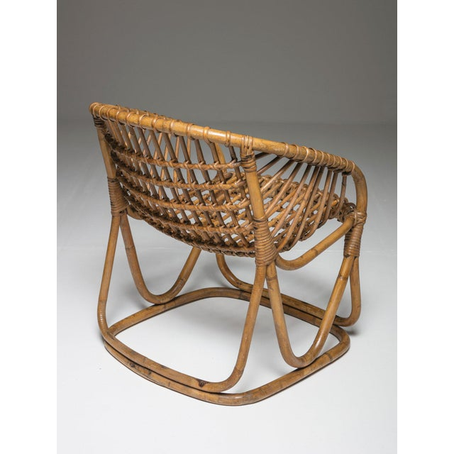 1960s Pair of Wicker Chairs by Tito Agnoli for Bonacina For Sale - Image 5 of 7