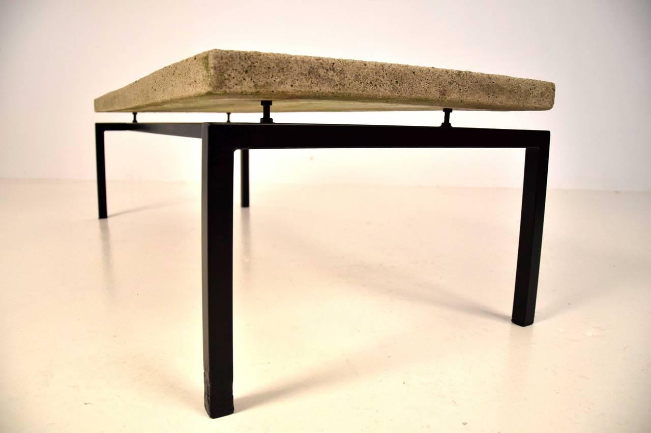 Brutalist Early 1960s Slate Stone Coffee Table By Paul Kingma   Image 3 Of 8