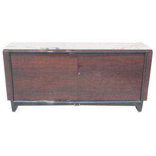 French Art Deco Macassar Ebony Sideboard / Buffet / Bar by Maurice Rinck Circa 1940s For Sale