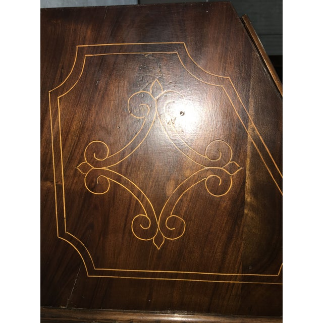 18th Century Spanish Walnut Marquetry, Chest of Drawers With Flap For Sale - Image 11 of 12