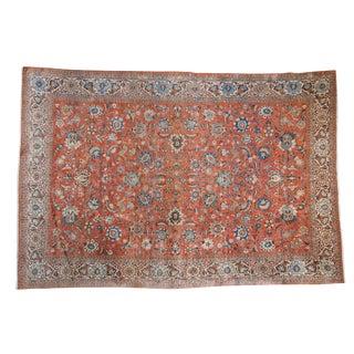 "Vintage Qom Carpet - 7'10"" X 11'5"" For Sale"
