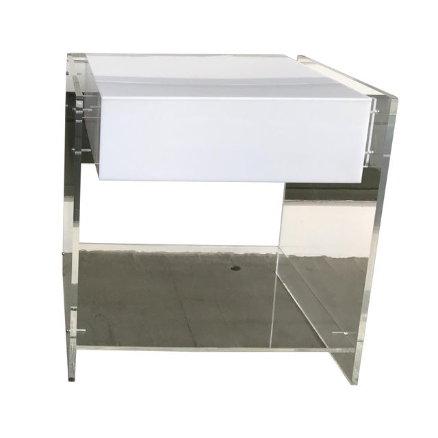 1970s Attributed to Kartell Italian Lucite End Table - Image 3 of 3