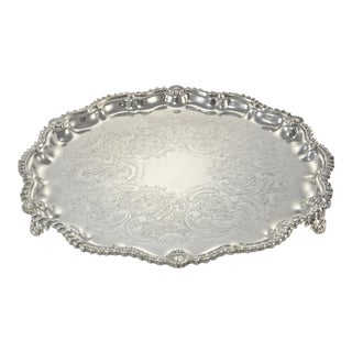 Mid-20th Century Art Nouveau Silver Footed Tray