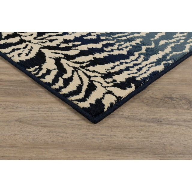 """Contemporary Stark Studio Rugs Tabby Blue Rug - 7'10"""" X 10'10"""" For Sale - Image 3 of 7"""