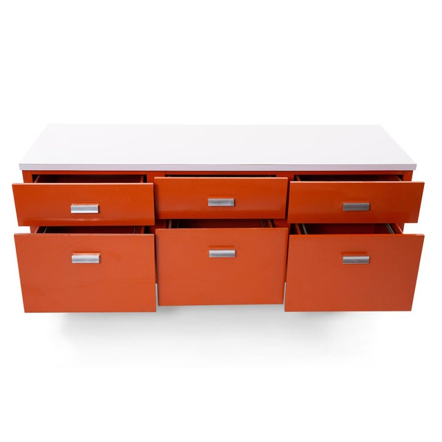 Metal George Nelson Herman Miller Modern Management Desk & Return - 2 Pc. Set For Sale - Image 7 of 9