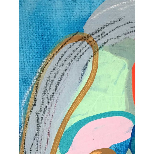 """Abstract Contemporary Abstract Portrait Painting """"Witness This"""" For Sale - Image 3 of 8"""