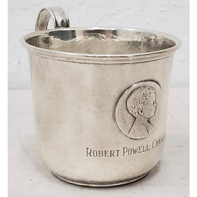Silver Late 19th Century Hand Hammered Shreve & Co. Christening Cup C.1890s For Sale - Image 8 of 8