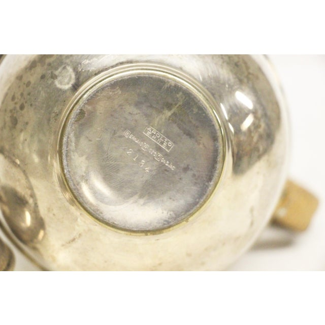 Art Deco 1920's Rattan Handle Tea Pot For Sale In Richmond - Image 6 of 7