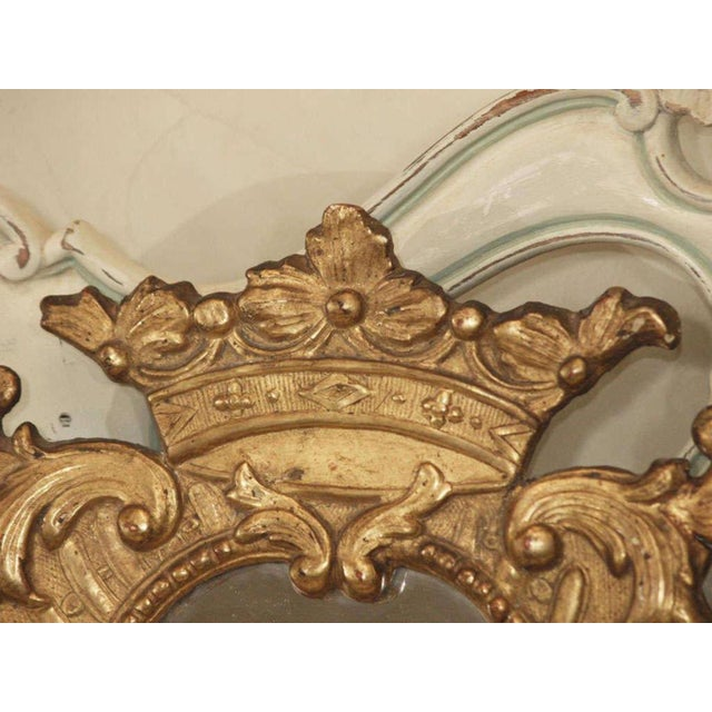 Pair of Italian Gilt Mirrors For Sale - Image 4 of 8