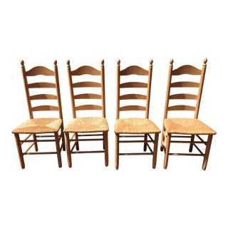 1990s Ladder Back Chairs - Set of 4 For Sale
