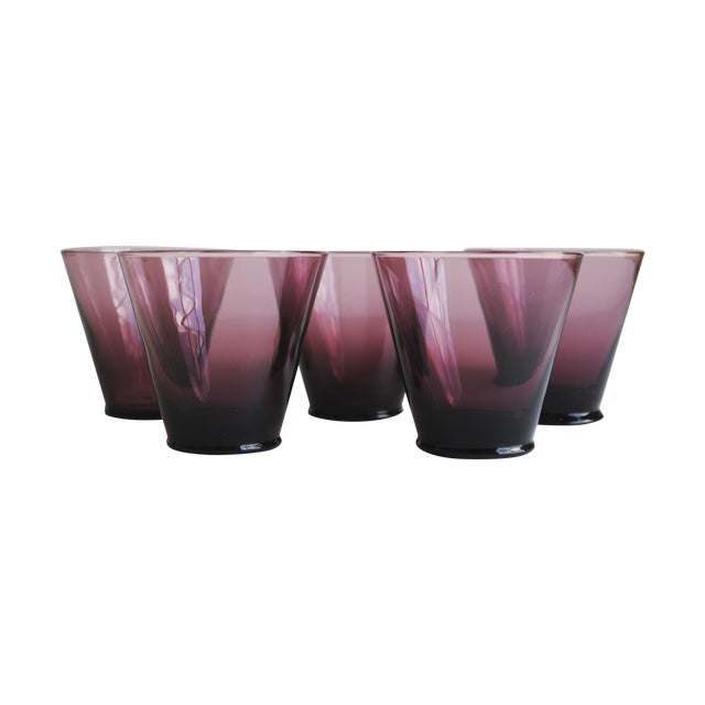 Amethyst Cordial Glasses, Set of 5 - Image 1 of 5