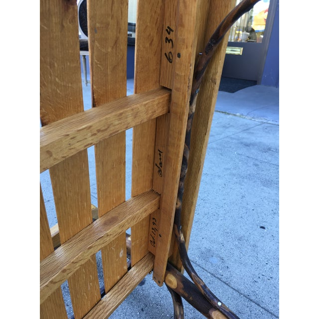Late 20th Century Rustic Adirondack Oak and Hickory Twig Rocking Chair For Sale - Image 9 of 11