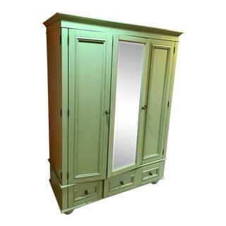 Pottery Barn Green Bedroom Armoire