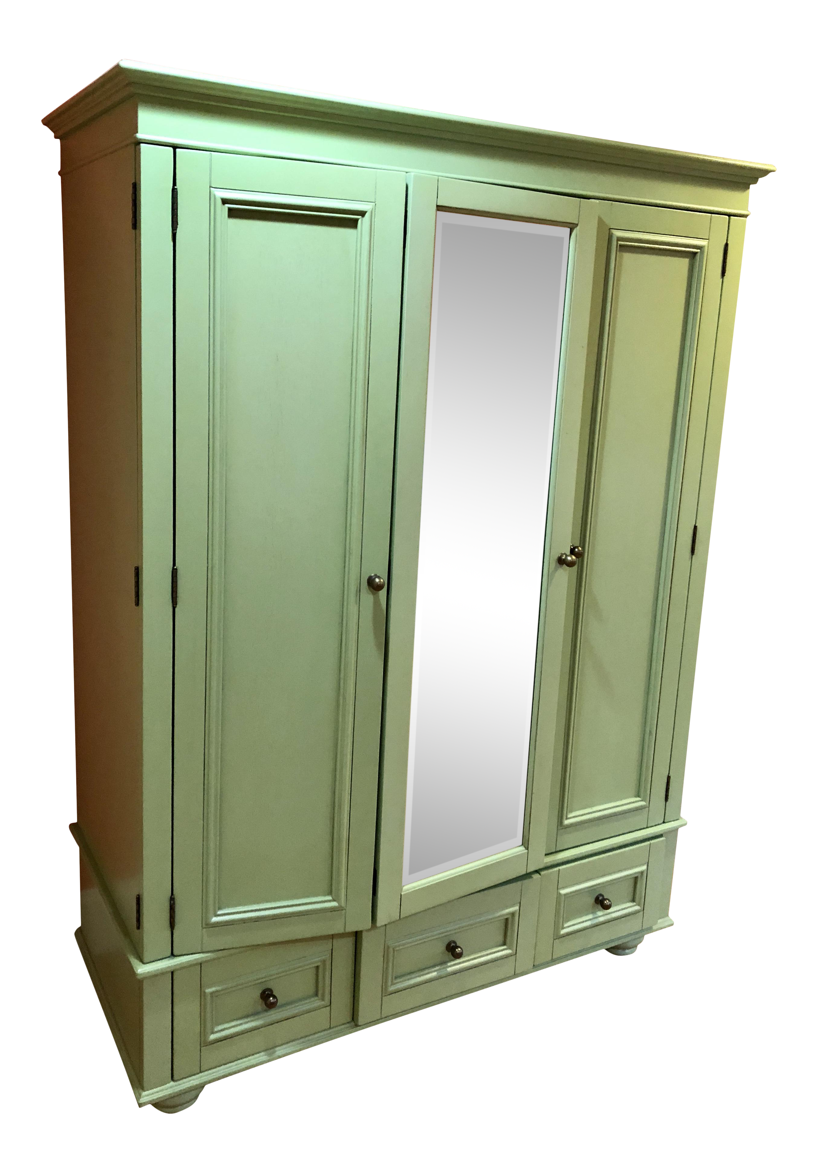 Pottery Barn Green Bedroom Armoire
