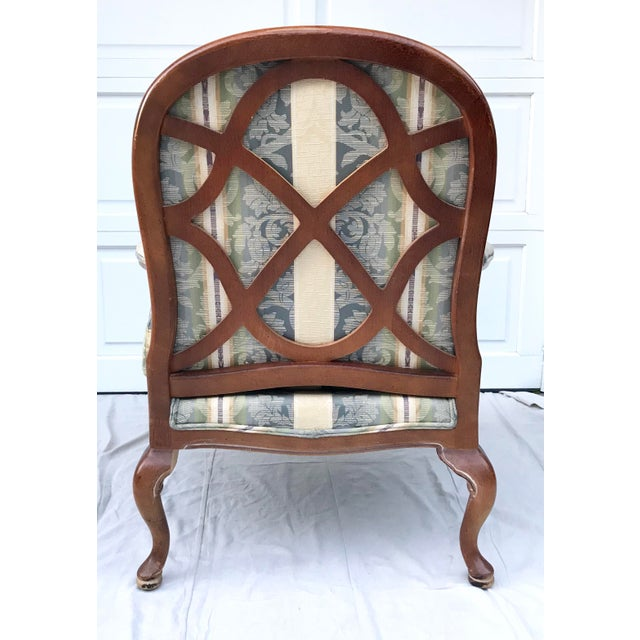 Thomasville Late 20th Century Vintage Lattice Back Thomasville Chair For Sale - Image 4 of 9