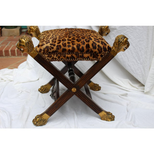 19th C. Italian Provenance Baroness Margarita Von Soosten Stool For Sale - Image 4 of 4
