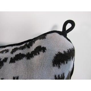 Hollywood Regency Silk Velvet Tiger Stripe Pillow Preview