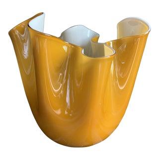 """Fulvio Bianconi Venini Cased Glass """"Fazzoletto"""" Handkerchief Vase, Signed For Sale"""