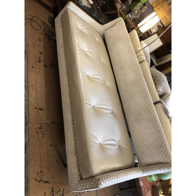 1950s Mid Century Modern Edward Wormley by Dunbar Open Back Sofas Newly Upholstered - Set of 2 For Sale - Image 5 of 9