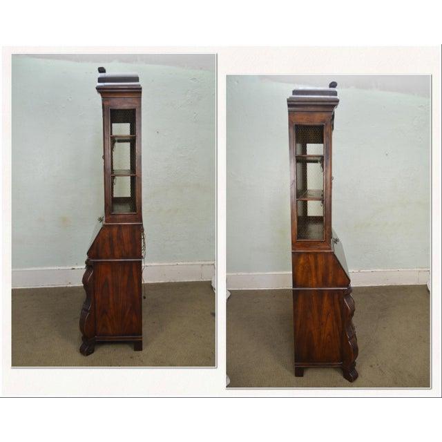 Henredon Four Centuries Baroque Style Bombe Oak Secretary Desk AGE / ORIGIN: Approx. 35 years, America DETAILS /...