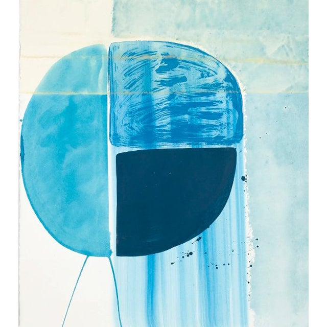 """Ky Anderson """"Blue Shield 18.7"""" Painting, 2018 For Sale"""