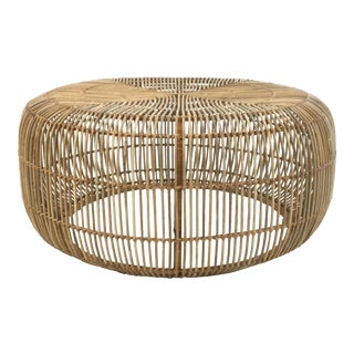 Arteriors Modern Rattan Somerset Cocktail Table For Sale